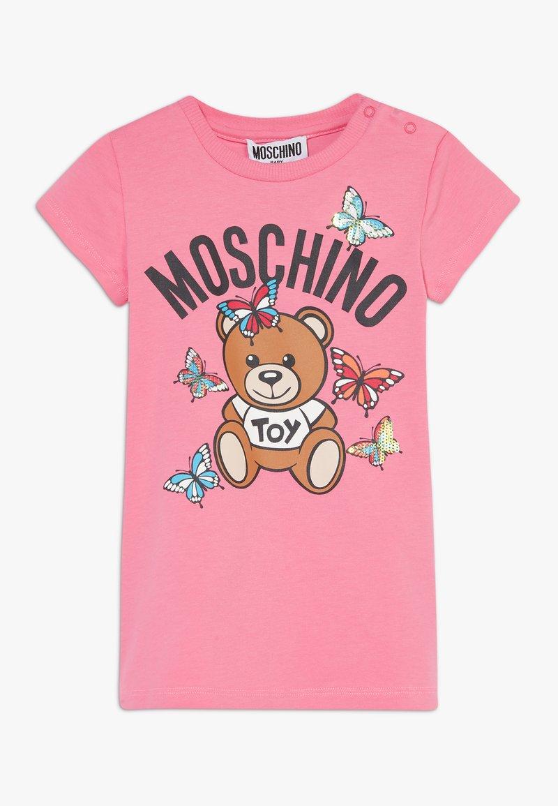 MOSCHINO - MAXI - Print T-shirt - dark pink