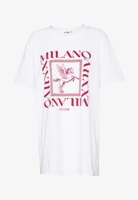 Missguided - MILANO GRAPHIC SHORT SLEEVE  - T-shirt con stampa - white - 3