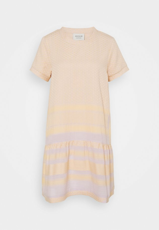 DRESS - Korte jurk - lavender/fog/abricot