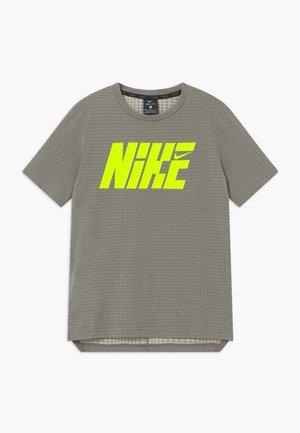 T-shirt print - khaki/volt