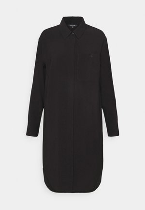 DRESS CUFFED SLEEVE - Košilové šaty - black
