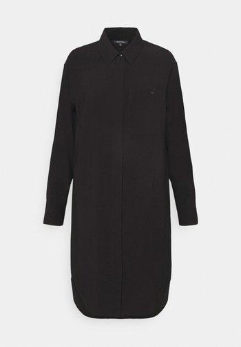DRESS CUFFED SLEEVE - Shirt dress - black