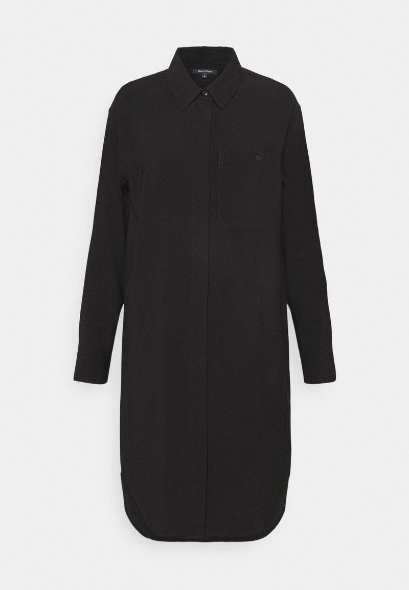 Marc O'Polo - DRESS CUFFED SLEEVE - Shirt dress - black