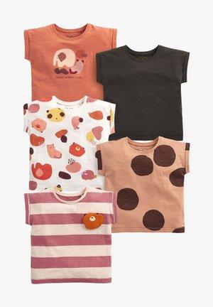5 PACK - Print T-shirt - brown