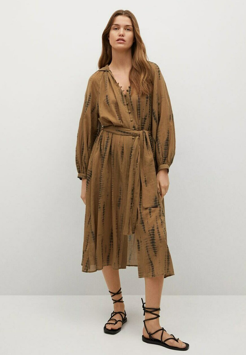 Mango - Shirt dress - braun