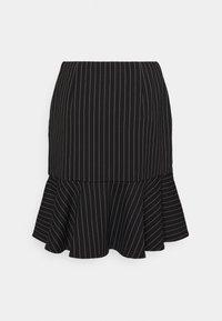 Lauren Ralph Lauren - PINSTRIPE  - Mini skirt - black/mascar - 1