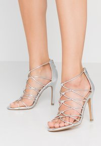 New Look - TOTTY - High heeled sandals - silver - 0