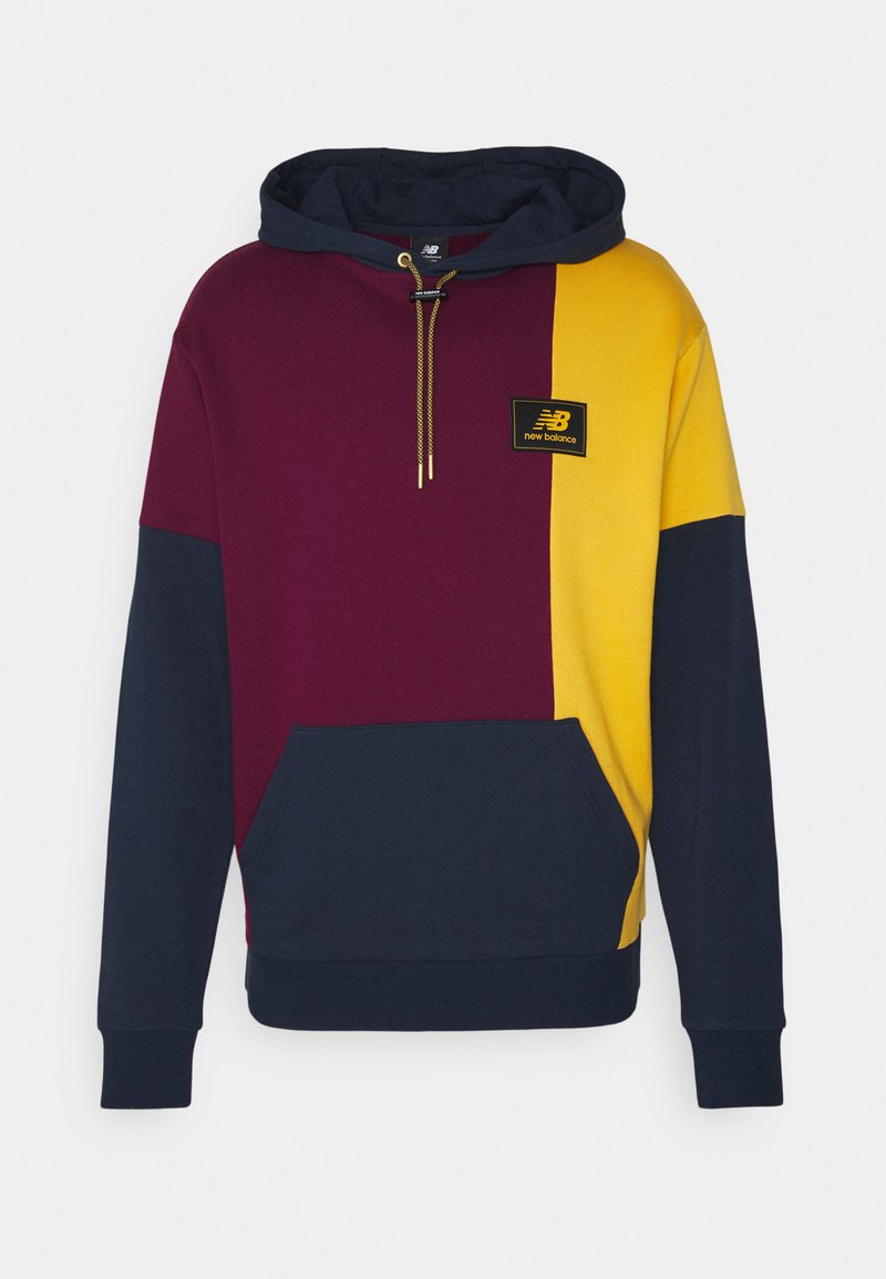 New Balance - NB ATHLETICS HIGHER LEARNING HOODIE - Sweatshirt - red/dark blue/yellow
