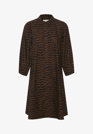 Shirt dress - ikat print, choclat glaze