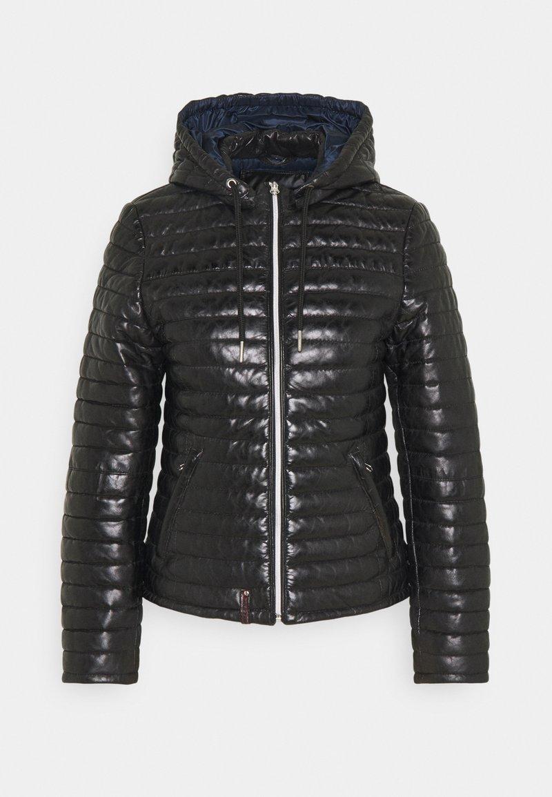 Oakwood - Leather jacket - black