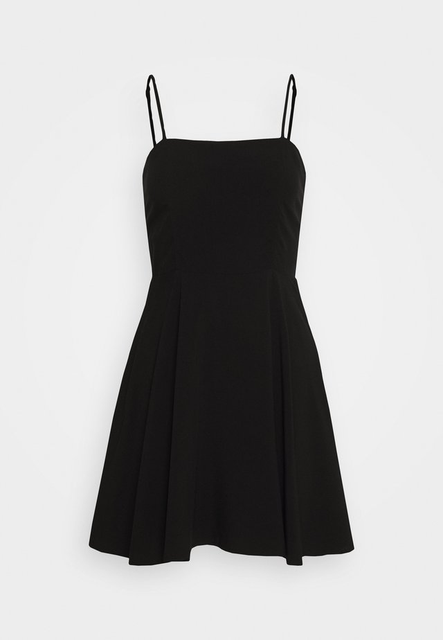 PAMELA REIF X NA-KD FLOWY MINI DRESS - Kjole - black