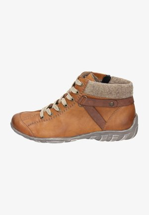 Lace-up ankle boots - cayenne/brandy/wood