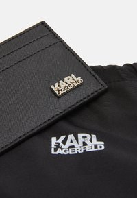 KARL LAGERFELD - CARDHOLDER BASIC WITH STACK LOGO - Wallet - black/silver - 3