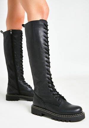 Lace-up boots - black blk