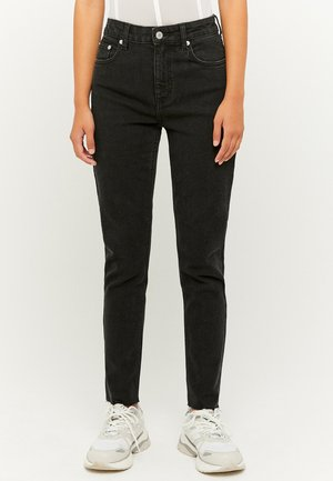 HIGH WAIST CROPPED STRAIGHT - Slim fit jeans - blue