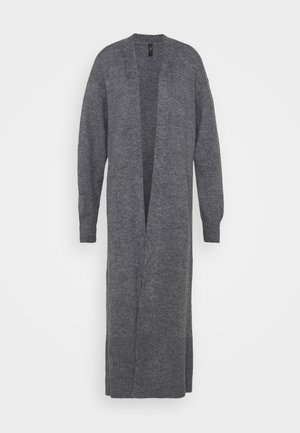 YASNANA LONG - Cardigan - dark grey melange