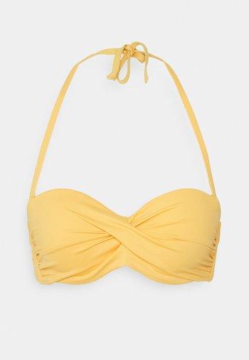 BANDEAU - Bikini top - yellow