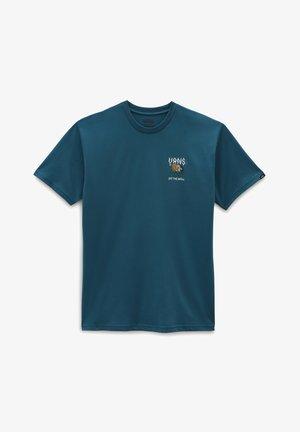 MN FLOWER POWER SS - Print T-shirt - blue coral