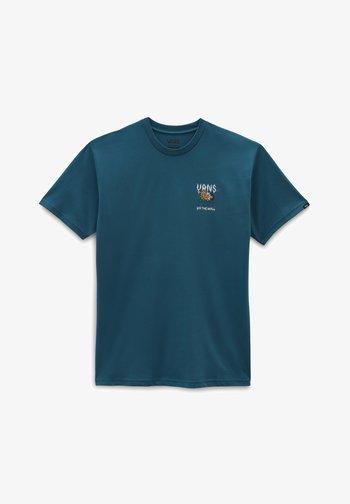 MN FLOWER POWER SS - T-shirt med print - blue coral