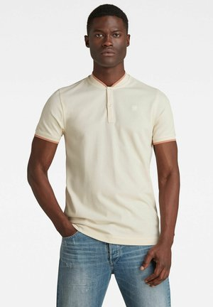 SPORT COLLAR SLIM POLO - Print T-shirt - ecru
