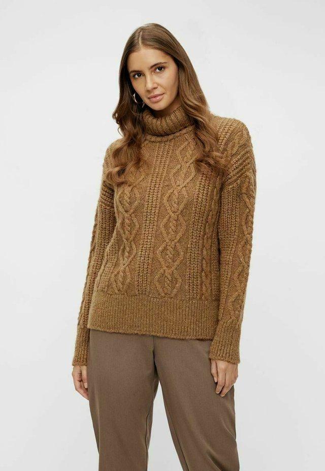 Jersey de punto - tawny brown