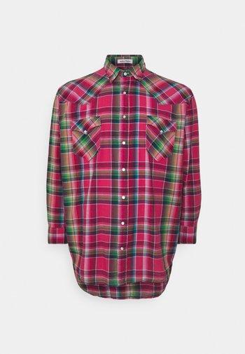 LONG SLEEVE SPORT SHIRT - Shirt - pink/blue
