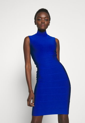 ICON MOCK NECK MIDI - Pouzdrové šaty - bright cobalt