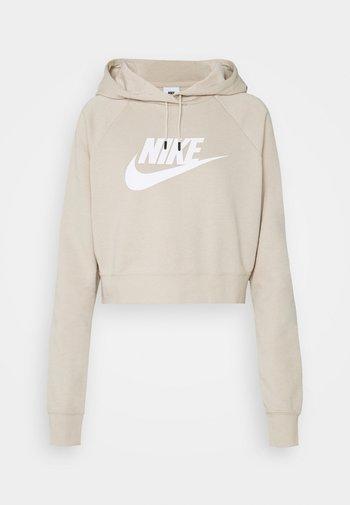 CROP - Sweatshirt - rattan/white