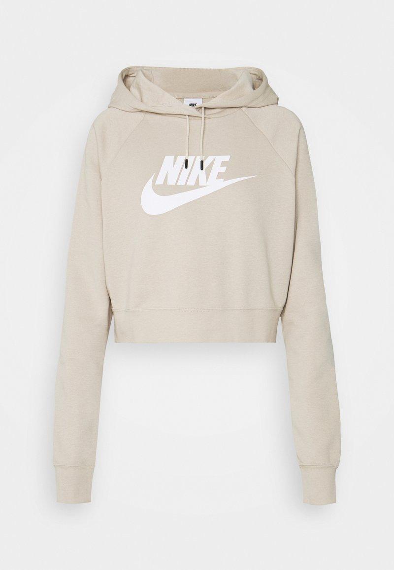 Nike Sportswear - CROP - Sweatshirt - rattan/white