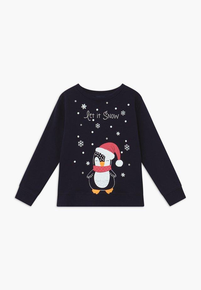 KIDS CHRISTMAS DOG  - Felpa - nachtblau