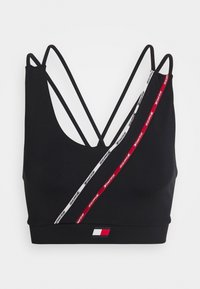 Tommy Hilfiger - LOW SUPPORT BRA PIPING - Light support sports bra - blue - 4