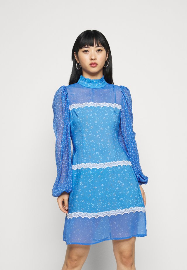 AYRA MINI DRESS - Day dress - blue