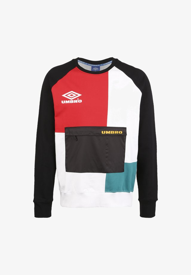 CYPHER - Sweater - black / bright white / rio red / bayou / saffron