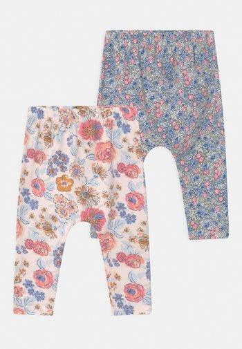2 PACK - Leggings - Trousers - dusk blue annie/crystal pink
