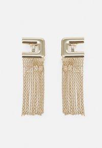 ROUND LOGO EARRING - Earrings - oro light