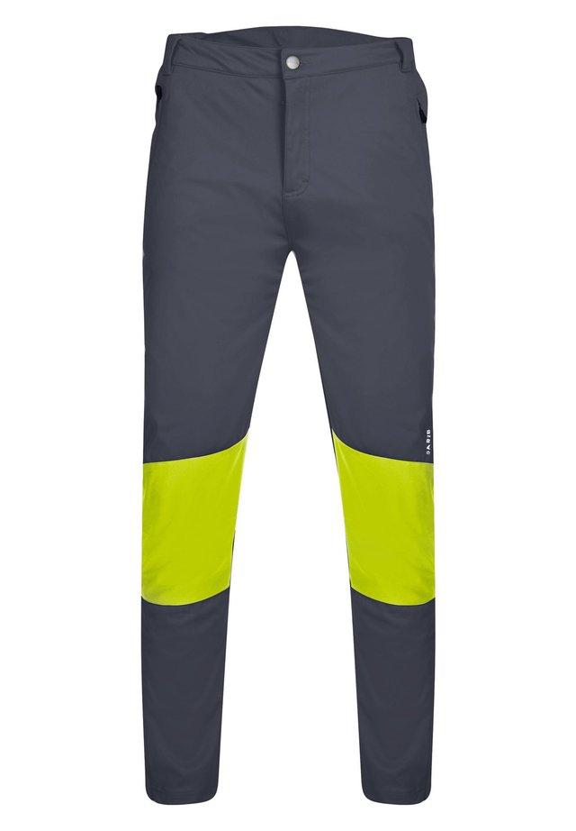 Outdoor trousers - dark grey, neon green