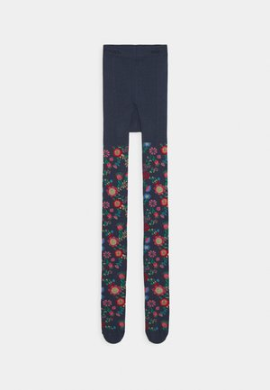 KIDSTIGHTS FLOWERS - Tights - dark blue