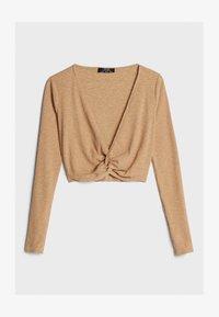 Bershka - Long sleeved top - beige - 5