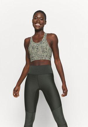 BERKELEY - Medium support sports bra - distorted grain