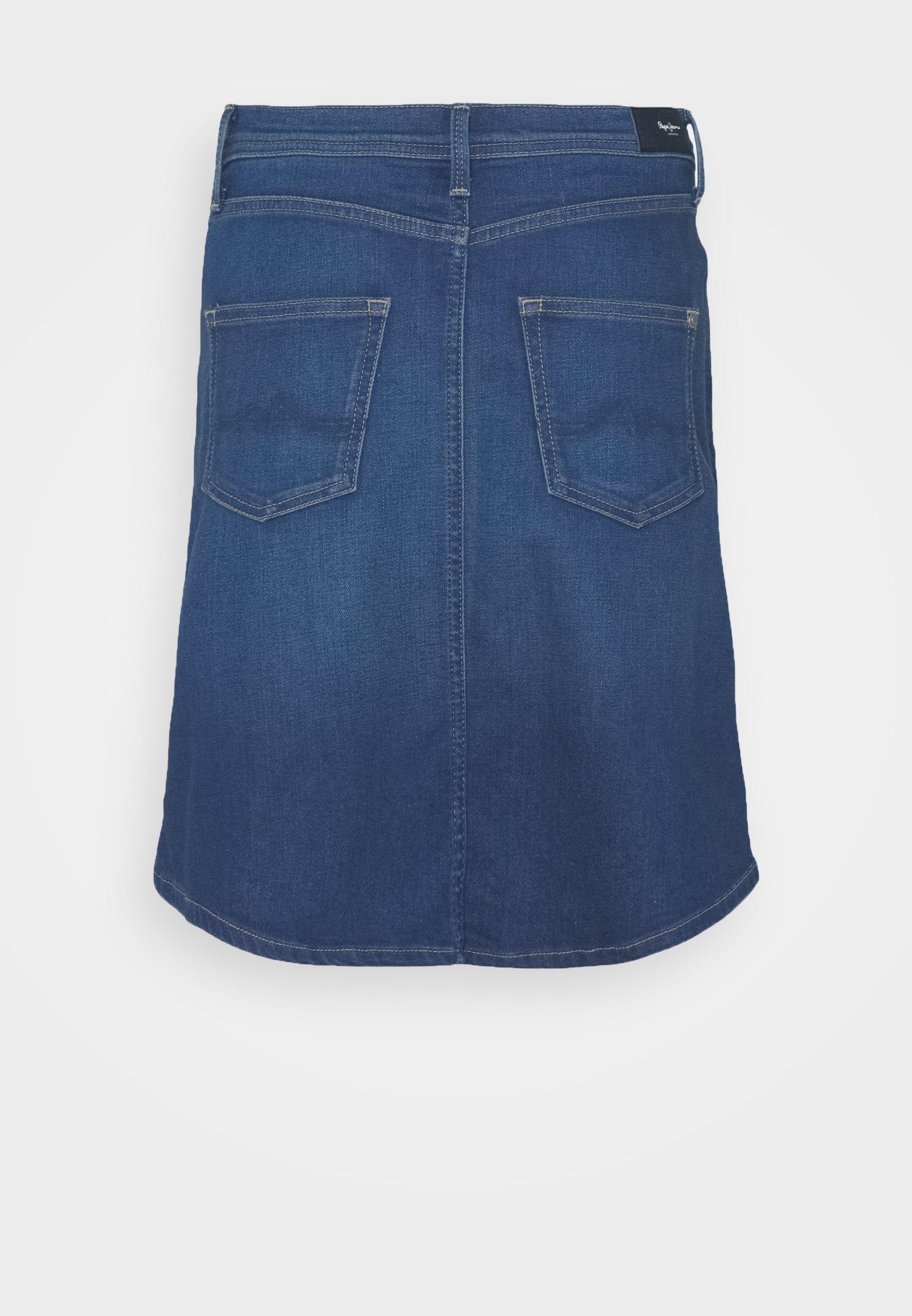 Women MARBLE SKIRT - Denim skirt