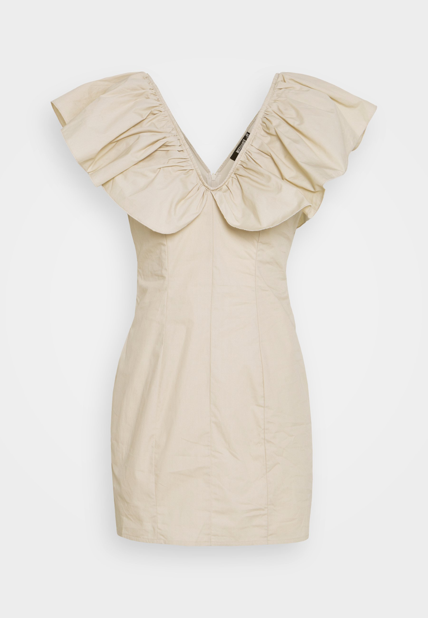 Women FRILL SHOULDER MINI DRESS - Day dress