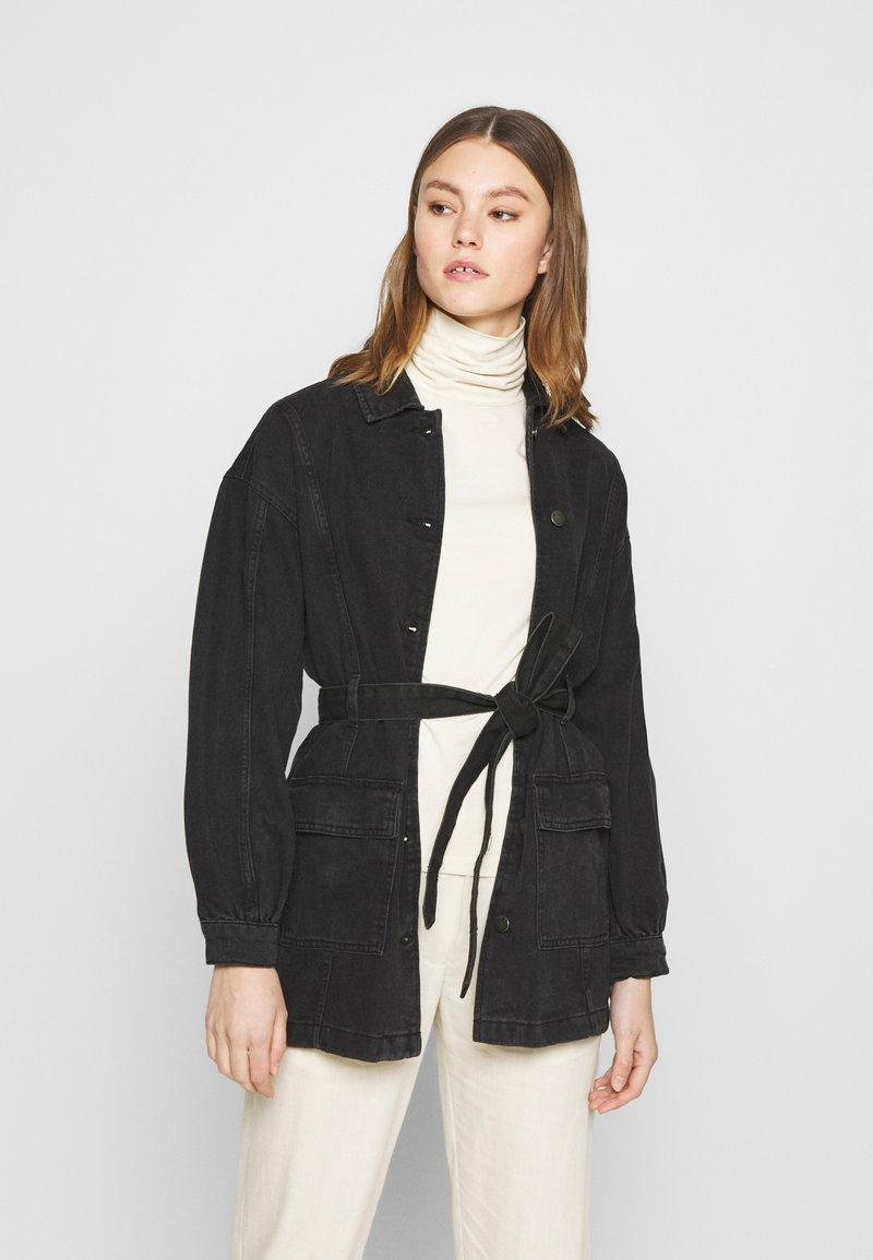 JDY - JDYSANSA BELTED JACKET  - Short coat - black