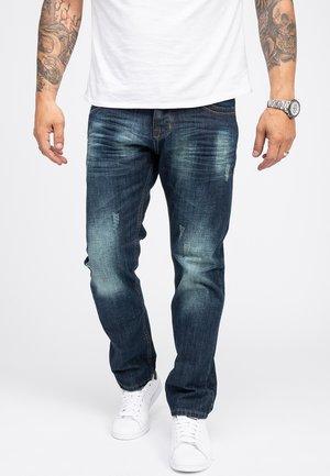 REGULAR FIT USED-LOOK RC - Straight leg jeans - blau