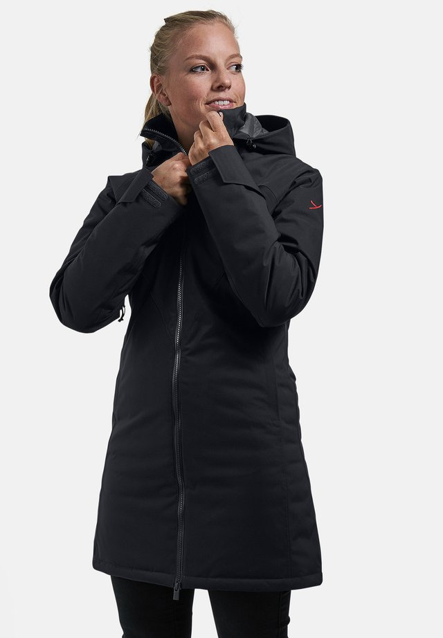 DAUNENMANTEL RAA - Down coat - black