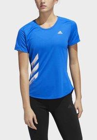 adidas Performance - RUN IT 3-STRIPES FAST T-SHIRT - Print T-shirt - blue - 3