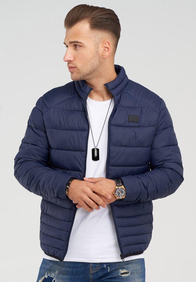 Jack & Jones - MIT STEHKRAGEN - Light jacket - navy blazer