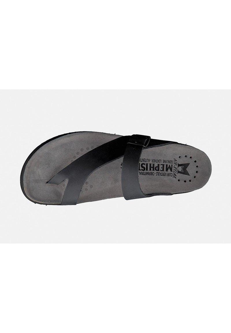 Mephisto - ZEHENTRENNER NIELS - T-bar sandals - black