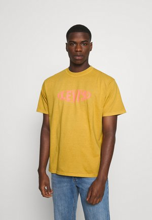 VINTAGE FIT GRAPHIC TEE - T-shirt print - cool yellow