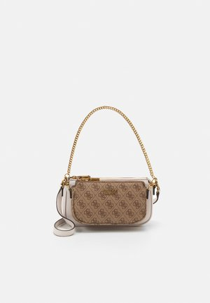 MIKA DOUBLE POUCH CROSSBODY SET - Skulderveske - brown