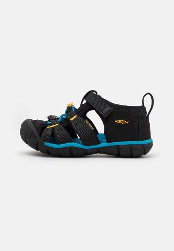 SEACAMP II CNX UNISEX - Walking sandals - black/yellow